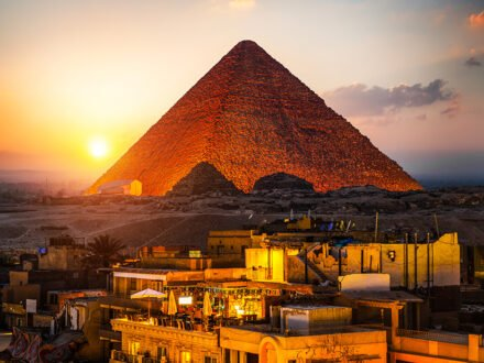 The great Pyramid during light and sound program