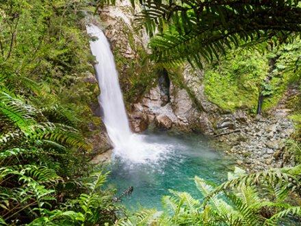 Beautiful waterfall in Chile, South America.